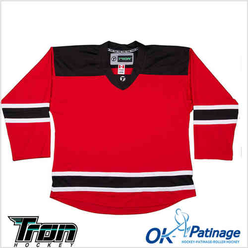 Tron maillot DJ300 New Jersey rouge-0009